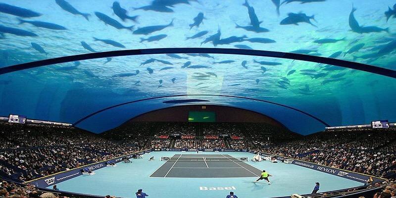 Cuma di Dubai, Main Tenis Dilakukan di Dasar Laut !